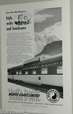 1954 Northern Pacific ad, Western Pacific ad, dual side