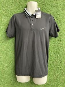 New Nike Golf Dri Fit Polo Shirt Contrast Collar Black Size XL (fits UK Medium)