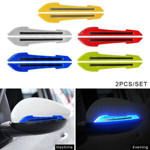 2x Car Reflector Warning Sticker Wing Mirror Styling Decals Reflective Strip