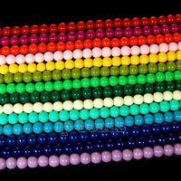 """Quality Czech Opaque Coated Glass Pearl Round Beads 15.5"""" 4mm 6mm 8mm 10mm 12mm"""