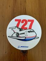 Boeing 727 aircraft round sticker