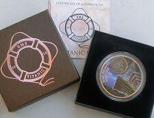 Jungferninseln / Virgin Islands 2 Dollar 2012 Titanic Nachtfahrt Farbmünze pp