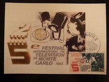 MONACO PREMIER JOUR FDC YVERT  1446     LA TELEVISION   2,10F    MONACO  1984