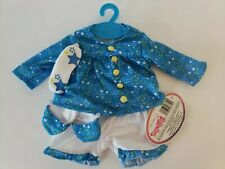 """My life as 18"""" clothing Fits American Doll -Blue Star Pjs/ slippers/ Mask 3pcs"""