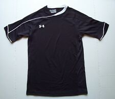 YMD UNDER ARMOUR HEAT GEAR LOOSE FIT SHORT SLEEVE V-NECK SHIRT BLACK