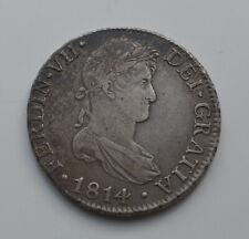 ESPAÑA FERNANDO VII 8 reales 1814 CJ CADIZ