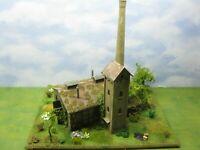 Lost Places: verlassene Fabrik mit LED Licht Diorama Modelleisenbahn H0 1:87 #84