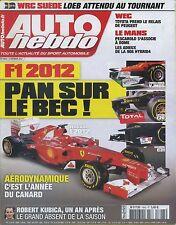 AUTO HEBDO n°1843 08/02/2012 F1 2012 WEC TOYOTA