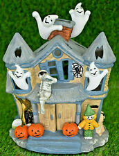 PartyLite Haunted Tealight House P7311 Halloween Decor With Original Box