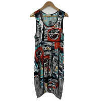 Orientique Australia Womens Dress Size 14 Multicoloured Abstract Design