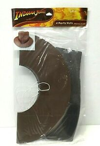 2 packs (8 total) Hallmark Party Express Indiana Jones Party Hats Paper Fedora
