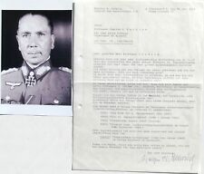 Walther Nehring German General Afrika Korps WWII Autograph Letter Signed 'Rare'