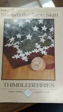 Quilted Christmas Tree Skirt Pattern - Snowflake - by Thimbleberries LJ92278