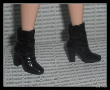 SHOES BARBIE MATTEL DOLL  SHAKIRA BLACK ANKLE BOOTS SHOES CLOTHING ACCESSORY