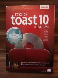 Roxio Toast Titanium 10 Software MAC NEU DE/ES/IT/FR/UK