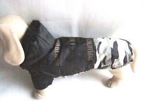 Hunde Regenmantel leicht wattiert für Dackel Rl.ca.38cm klkxde Hundebekleidung