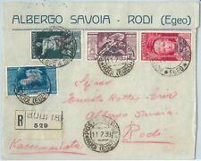71443 - COLONIE: EGEO Rodi - Storia Postale: FRONTESPIZIO BUSTA - Hotel Cover