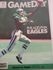 Cleveland Browns vs Philadelphia Eagles 1988 NFL Gameday Program