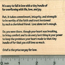 Sympathy in Pet Loss Rubber Stamp, It's easy to fall in love M29818 WM