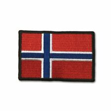 "Embroidered 3"" Norway Flag Sew or Iron on Patch Biker Patch"