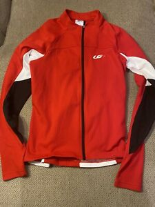 Womens Louis Garneau Long Sleeve Red Cycling Bike Jersey Medium M