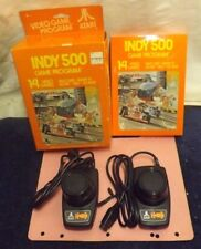 Atari 2600 Indy 500 Game And Controller / Paddle Set With Boxes And Manual