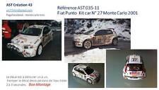 Decal Calca 1 43 FIAT PUNTO KIT CAR N° 27 Rally WRC MONTE CARLO 2001 MONTECARLO
