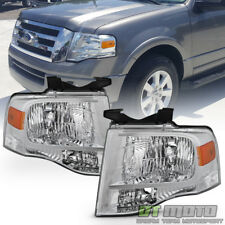 Replacement Headlamps For 2007-2014 Ford Expedition Headlights Left+Right 07-14