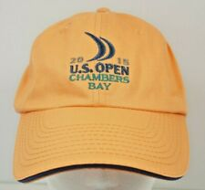 2015 Us Open Chambers Bay Light Orange Strapback Hat Cap Usga Member Unisex