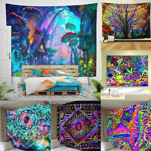 Hippie Tapestry Wall Hanging Mandala Gypsy Bedspread Throw Indian Bohemian Style