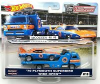HOT WHEELS 2020 CAR CULTURE TEAM TRANSPORT '70 PLYMOUTH SUPERBIRD & WIDE OPEN
