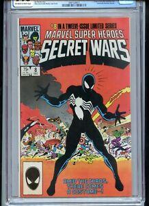 Secret Wars #8 CGC 9.6 OWTW Pages 1st Black Costume