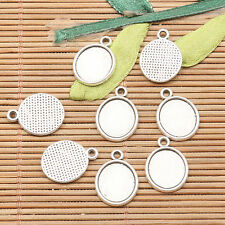 30pcs tibetan silver color oval shaped cabochon setting design  EF2592