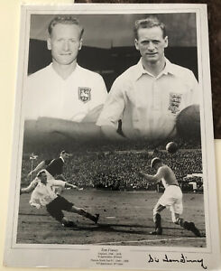 Sir Tom Finney England 1946-1958 signed photo with certificate authenticity