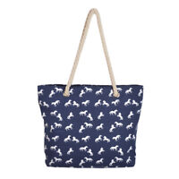 Premium Large Stallion Horse Animal Print Canvas Tote Shoulder Bag Handbag