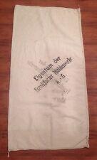 Vintage Pre WWII German Grain Bag Eigentum Der Frankfurter Muhlenwerke A.-G.