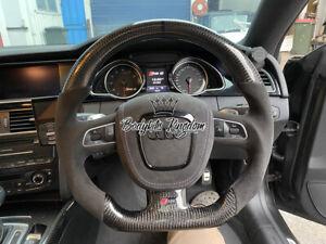 Audi S3 A4 rs4 rs5 B8 8T TT a6 a7 a8 s8 Carbon steering wheel flat bottom custom