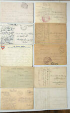 10 x Soldiers Mails WK I - u.a. APO 927, 715, 710, 754 als Ansichtskarten