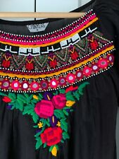 Chinyere Afghan Style Dress Kurta Kurti New Khaadi Embroidered Black Small 8 10