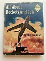 1958 Children's Book All About Rockets and Jets w/ Dust Jacket