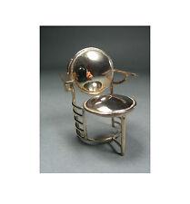 "Frank Lloyd Wright Sterling Silver Mini ""Johnson"" Chair by ACME Studio NEW"