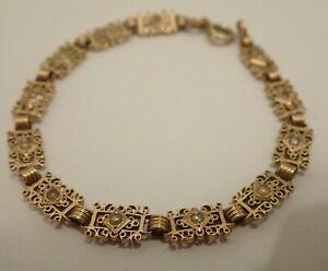 Bracelet Ancien en Or Jaune 18k Perles