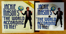 JACKIE MASON'S - WORLD ACCORDING TO ME - HARDBACK WITH FLEXI-DISC - 1987