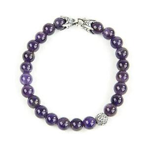 DAVID YURMAN Men's Amethyst Spiritual Accent Bead Bracelet $595 NEW