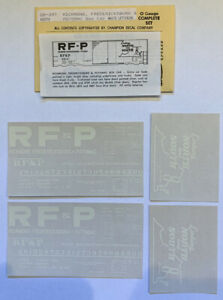 CHAMP O DECAL-RICHMOND, FREDERICKSBURG & POTOMAC/RF&P BOX CAR-BLUE/WH LET-OB-397