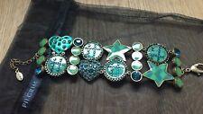 Pilgrim Green Heart  Bracelet