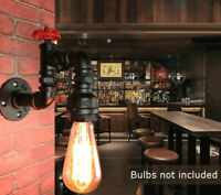 Water Pipe Industrial Sconce Loft Wall Light Retro Style Steampunk Porch Lamp