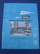 Coleman HVAC 1950's Catalog Asbestos Seals Furnaces A C s
