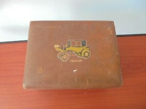Little vintage box with a picture of a Daimler on it