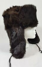 Vintage POT PPOHT Russian Ushanka Sable Rabbit or Beaver Hat Size 7